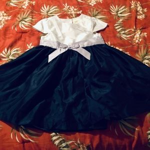 Crazy 8 Navy Blue, White, and Purple Dress